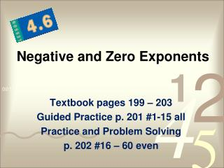 Negative and Zero Exponents