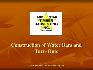Construction of Water Bars and Turn-Outs