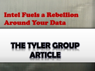 Intel Fuels a Rebellion Around Your Data-Edublogs