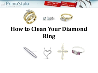 How to clean your diamond ring