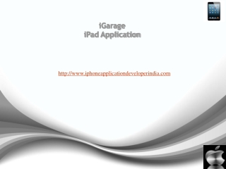 iGarage iPad Application
