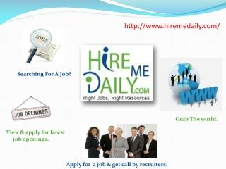 Hire Me Daily Job Portal