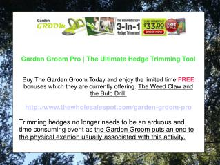 Garden Groom Pro - Top Contender in Electric Hedge Trimmers