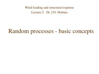 Random processes - basic concepts