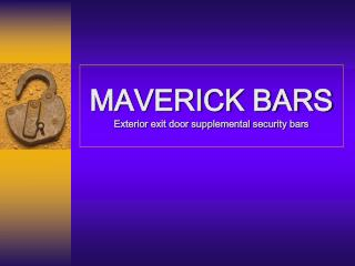 MAVERICK BARS Exterior exit door supplemental security bars