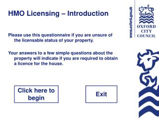 HMO Licensing – Introduction