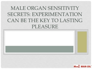 Male Organ Sensitivity Secrets