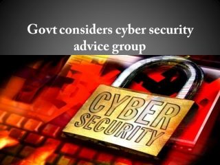 Govt Considers Cyber Security Advice Group