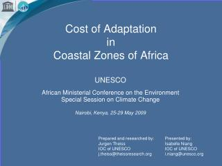 Cost of Adaptation in Coastal Zones of Africa
