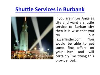 Shuttle Services Burbank