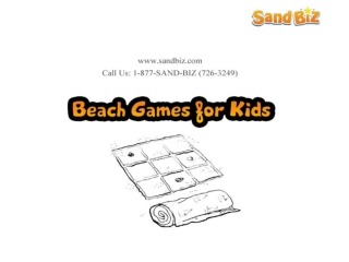 Beach Games For Kids By SandBiz Games