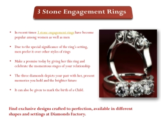 3 Stone Engagement Rings Guide