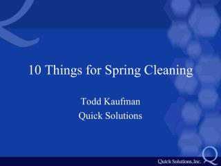 10 Things for Spring Cleaning