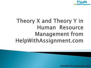 theory x and theory y in human resource management from help