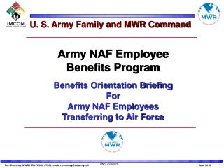 U. S. Army Family and MWR Command