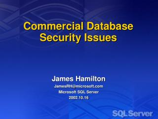 Commercial Database Security Issues