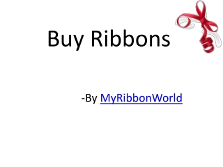 Buy ribbons from top merchant for large party