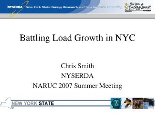 Battling Load Growth in NYC