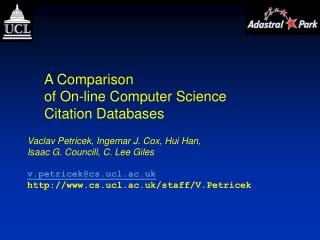 A Comparison of On-line Computer Science Citation Databases