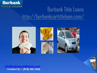 Burbank auto title loans
