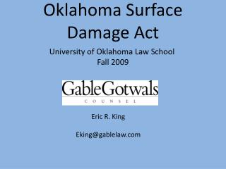 Oklahoma Surface Damage Act