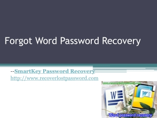 forgot word password