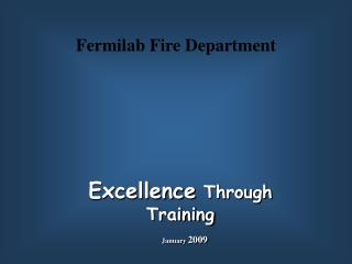 Excellence  Through Training