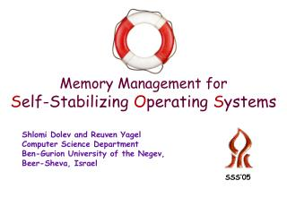 Memory Management for S elf-Stabilizing  O perating  S ystems