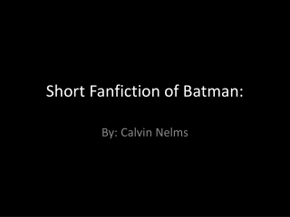 DARIA VS BATMAN FANFICTION