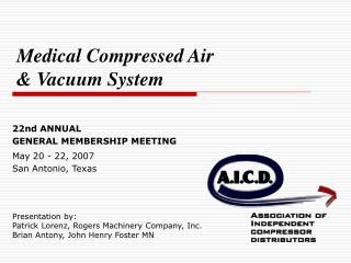 Presentation by: Patrick Lorenz, Rogers Machinery Company, Inc. Brian Antony, John Henry Foster MN