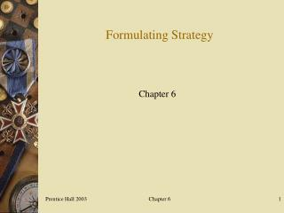 Formulating Strategy