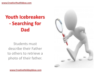 Youth Icebreakers - Searching for Dad