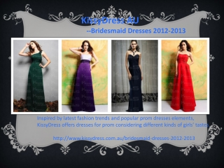 KissyDress AU's Bridesmaid Dresses Online Store