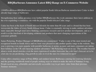 bbqbarbecues announce latest bbq range on e-commerce website