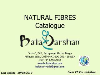 NATURAL FIBRES Catalogue