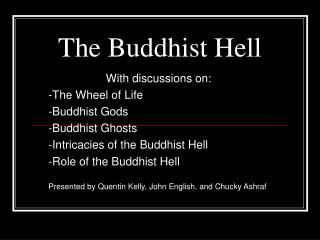 The Buddhist Hell