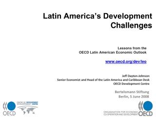 Latin America's Development Challenges