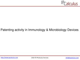 IPCalculus - Patenting Activity in Immunology & Microbiology