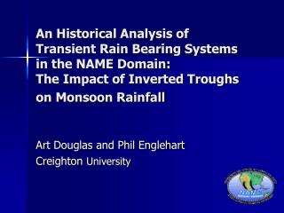 An Historical Analysis of Transient Rain Bearing Systems in the ...