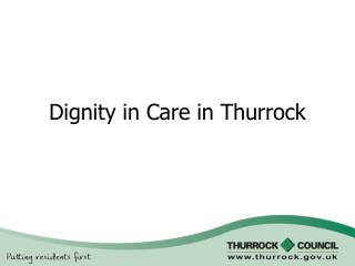 Dignity in Care in Thurrock