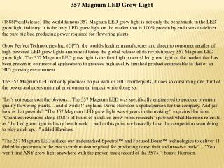 357 magnum led grow light