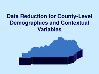 Data Reduction for County-Level Demographics and Contextual Variables