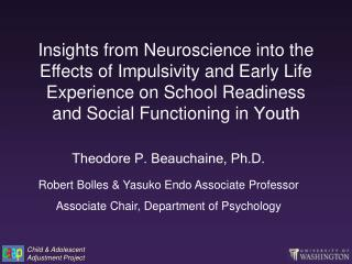 Insights from Neuroscience into the Effects of Impulsivity and Early Life Experience on School Readiness and Social Func