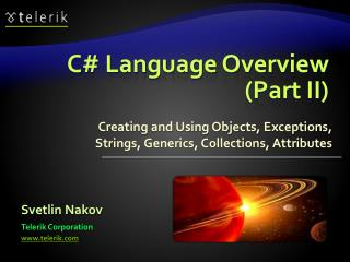 C# Language Overview (Part II)