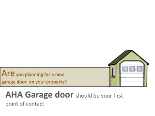 DIY garage doors