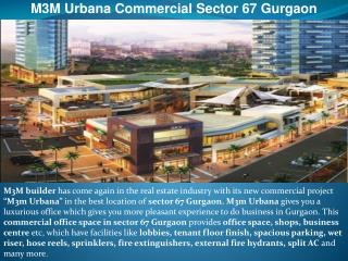 m3m urbana commercial sector 67 gurgaon