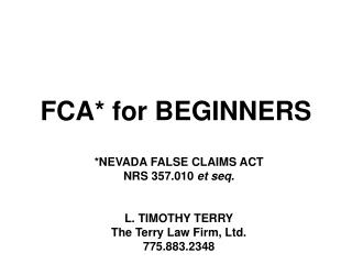 FCA* for BEGINNERS