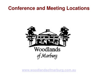 Conference and Meeting Locations