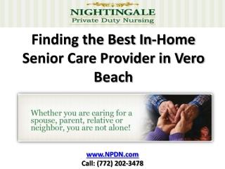 Elder Care in Vero Beach Services