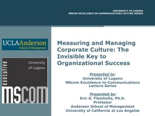 Measuring and Managing Corporate Culture: The Invisible Key to Organizational Success